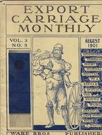 Export Carriage Monthly. August 1901. Vol. 3. N° 5. Seneca Indian Chief. Ghost Dance. - Bücher, Zeitschriften, Comics