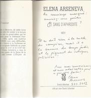 Dédicace De Elena Arseneva - Le Sang D'aphrodite - Books, Magazines, Comics