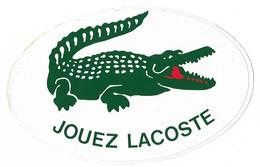 Autocollant - Jouez Lacoste - Crocodile - 12 X 8 Cm - Stickers