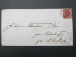 1860 , Brief  Mit Nummernstempel  Aus Roskilde - Briefe U. Dokumente