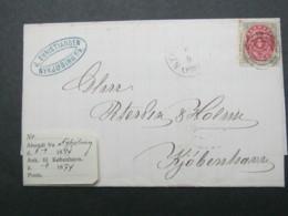 1874 , Brief  Mit Nummernstempel  Aus Nyköbing - Briefe U. Dokumente