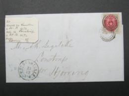 1872 , Brief  Mit Nummernstempel  Aus Kopenhagen - Briefe U. Dokumente