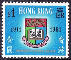 HONG KONG 1961 QEII $1 Multicoloured SG192 MH - Hong Kong (...-1997)