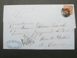 Brief  Mit Nummernstempel  Aus Kopenhagen - 1864-04 (Christian IX)