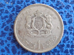 MAROC 1 DIRHAM ARGENT 1960 - Maroc