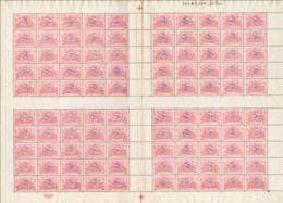 Belgium TR 0035** 50c Sheet / Feuille De 100 MNH Spectaculaire ! - Feuilles Complètes