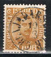 Island 157 Gestempelt - 3 Aurar Christian X. 1932 - 1918-1944 Administration Autonome