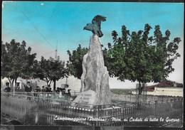 CAMPOMAGGIORE (POTENZA) - MONUMENTO AI CADUTI - VIAGGIATA FRANCOBOLLO ASPORTATO - Monuments