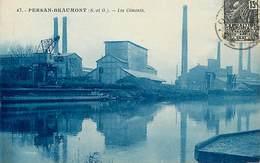 - Val D Oise - Ref-621- Persan Beaumont - Les Ciments - Cimenterie - Cimenteries - Usine - Usines - Industrie - - Persan