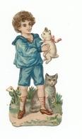 DECOUPIS   Enfant Avec Chat - Enfants