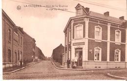 CP. LA CROYERE - Rue De La Station Et Rue Du Progrès. Affranch. Bde De 3 N° 137. - La Louvière