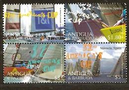 Antigua & Barbuda 2008 Yvertn° 3906-3909 *** MNH Cote 11 Euro Voiliers America ' S Cup Valencia - Antigua Et Barbuda (1981-...)