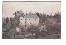 42 Ste Sainte Colombe  Chateau Du XVIe Siecle Cpa Carte Colorisée - Autres Communes