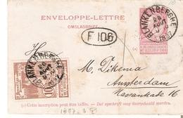 Enveloppes-lettres N° 2 + TP. 73 BLANKENBERGHE 26/8/1897 V/Amsterdam (au Verso) Affr. 20c. - Entiers Postaux