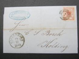 1861 , Brief  Mit Nummernstempel  Aus Kopenhagen - 1864-04 (Christian IX)