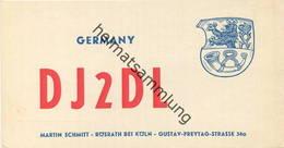 QSL - Funkkarte - DJ2DL - Rösrath - 1959 - Amateurfunk