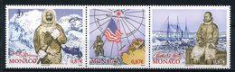 MONACO 2008 N° 2655/2657 ** Neufs MNH  Superbes Polaire Voilier Bateaux Expédition Peary Pôle Nord Drapeau Carte - Nuovi