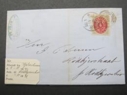 1871 , Brief  Mit Nummernstempel  Aus Kopenhagen - 1864-04 (Christian IX)