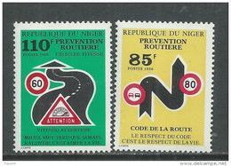 Niger  N° 708 / 09  XX  Campagne Pour La Prévention Des Accidents De La Route, Les 2 Valeurs  Sans Charnière, TB - Niger (1960-...)