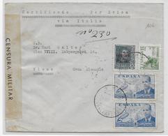 ESPAGNE - 1939 - ENVELOPPE RECO AVION De DEYA (BALEARES) Avec CENSURE De PALMA => WIEN (AUTRICHE) - 1931-Today: 2nd Rep - ... Juan Carlos I