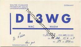 QSL - Funkkarte - DL3WG - Frankfurt - 1956 - Amateurfunk