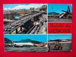 SALUTI DA GENOVA AEROPORTO Aereo CARAVELLE - Aérodromes