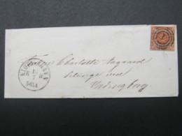 Brief  Mit Nummernstempel  Aus Kopenhagen - 1851-63 (Frederik VII)