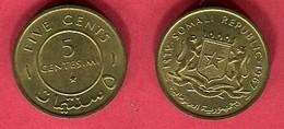 5 CENTESIMI  ( KM 6 ) TTB+ 1,5 - Somalie