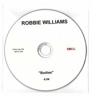 """CD 1 TITRE ROBBIE WILLIAMS BODIES 4'04"""" (Pochette Plastique) RARE & TRèS BON ETAT - Rock"""