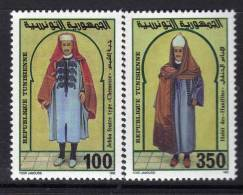 Tunisie N° 1192 / 93   XX Costumes Masculins Tunisiens La Paire Sans Charnière TB - Tunisie (1956-...)