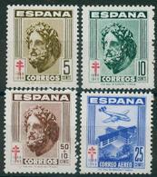 España 1948. Edifil 1040/43** - Pro Tuberculosos - 1931-50 Nuevos & Fijasellos