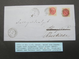 1870 ,Brief  Mit Nummernstempel  Aus Kopenhagen Und Ringstedt , Nachsendebrief - Briefe U. Dokumente