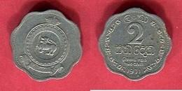 2 CENTS  ( KM 128 ) TB+ 1 - Sri Lanka