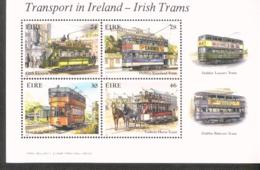 Irland Block 6 Straßenbahnen ** MNH Postfrisch Neuf - Blocchi & Foglietti