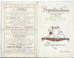 PARIS - BOXE  Vendredi 1 Er Avril 1921 - BOXING CLUB De FRANCE Au Cirque De Paris Av. De La Motte-Picquet - 6 Pages - Programmi