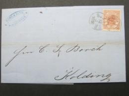 1866 ,Brief  Mit Nummernstempel  Aus Kopenhagen - Briefe U. Dokumente