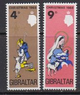 Gibraltar 1968 Christmas 2v ** Mnh (41506E) - Gibraltar