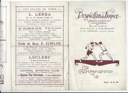 PARIS - BOXE  Vendredi 18 Mars 1921 - BOXING CLUB De FRANCE Au Cirque De Paris Av. De La Motte-Picquet - 6 Pages - Programmi
