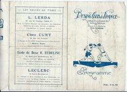PARIS - BOXE  Vendredi 21 Janvier 1921 - BOXING CLUB De FRANCE Au Cirque De Paris Av. De La Motte-Picquet - 6 Pages - Programmes