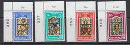 Gibraltar 1976 Christmas 4v (corner, Sheet Number) ** Mnh (41506F) - Gibraltar