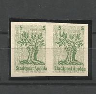 Lokalausgaben, Apolda, Paar Nr. 1** Postfrisch - Deutschland