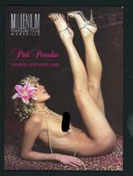 PROGRAMME MILLENIUM PLEASURE CLUB MARSEILLE - PINK PARADISE 2006 (FEMMES NUES) EROTIC SHOW GIRL TABLE DANCE - Programmi