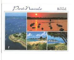 Presqu'ile De Rhuys - Port Navalo (56) La Pointe A L'entree Du Golfe,la Plage Et Le Port  ( Flamme Et Tampon De Sarzeau - Frankreich