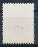 France - Blason De St-Lô YT 1510b Numéro Rouge Au Verso Obl. - 1941-66 Coat Of Arms And Heraldry