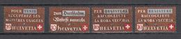 1942   N° 254 à 256 (X2)   OBLITERES  COTE 18.00  FRS.  VENDU à 15%       CATALOGUE ZUMSTEIN - Suisse