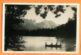 LIP618, Lac De Champex Et Grand Combin, Animée, Barque à Rame, Perrochet-Matile, Non Circulée - VS Valais