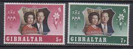 Gibraltar 1972 25th Wedding Anniversary 2v ** Mnh (41506F) - Gibraltar