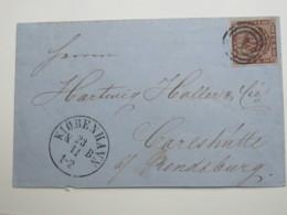 1860 ,Brief  Mit Nummernstempel  Aus Kopenhagen - 1851-63 (Frederik VII)