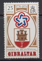 Gibraltar 1976 US Bicentennial 1v ** Mnh (41506F) - Gibraltar