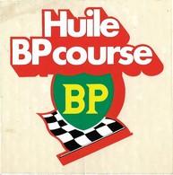 Autocollant - Automobile - Huile BP Course - 10 X 10 Cm - - Autocollants